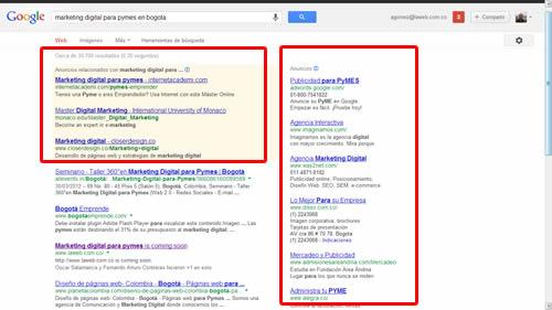 donde semuestran los anuncios de publicidad en google
